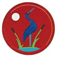 cradleboard beadwork summer crane digital art by douglas k limon