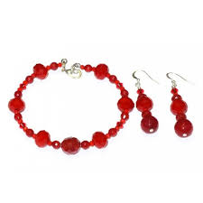 red crystal bracelet images Red bracelet set jpg