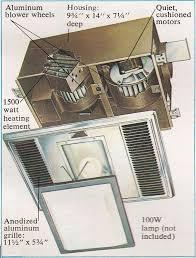nutone model 9965 fan motor nutone h965 deluxe heat a ventlite parts