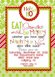 christmas cocktails invite custom designed christmas party invitations eat by marcylauren