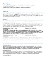 Job Resume Free by Customer Service Resume Free Customer Service Resume Templates