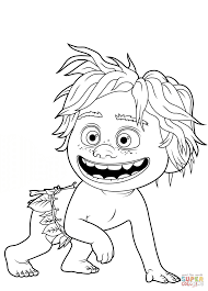 spot a caveboy from the good dinosaur coloring page free