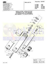 Sears Hydraulic Jack Parts by Amazon Com 4105 Otc Power Team Spx Cylinder 10 Ton Seal