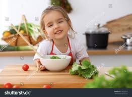 happy family kitchen mother child daughter stock photo 612622973