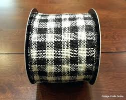 wired ribbon wholesale burlap ribbon 4 inch burlap plaid check wired ribbon in