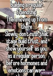 Moving On Up Meme - best to start by building a regular friendship then moving up from
