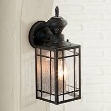 Outdoor Light Fixture With Outlet by Motion Sensor Outdoor Light Fixtures Lamps Plus