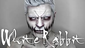 men halloween makeup white rabbit