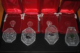 4 waterford 12 days of ornaments in box 88 91 rings