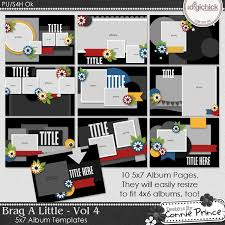 5x7 brag book the digichick templates brag a volume 4 5x7 brag