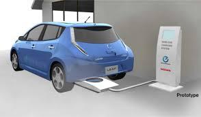 nissan leaf youtube commercial nissan leaf goes wireless charging mat under development