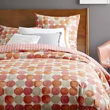 orange bedding west elm