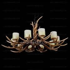 Faux Antler Chandelier 10 Light Twig Faux Antler Chandelier Hanging Foyer
