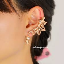 earring cuffs leaf ear cuff ear cuff gold ear sweep leaf