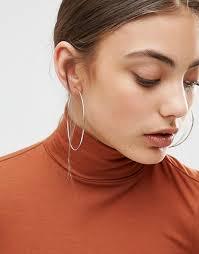 large hoop earrings asos asos large hoop earrings 60mm