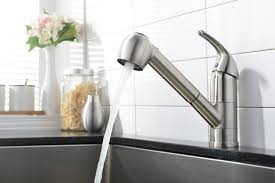 Brushed Nickel Kitchen Faucet Comllen Commercial Stainless Steel Single Handle Pull Out Kitchen