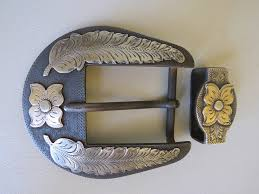 Handmade Belts And Buckles - 8611 new handmade don rogers two 1 â â belt buckle set