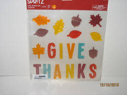 thanksgiving gel clings collection on ebay