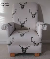 fryetts stag fabric child chair kids armchair charcoal grey