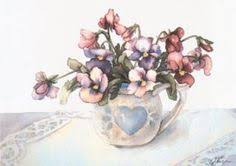 jodi jensen limited edition shabby chic floral pansies watercolor