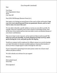 Acknowledgement Letter Request sponsorship letters write great proposals with 12 templates