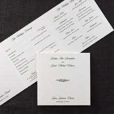 trifold wedding program pearl horizontal tri fold wedding program programs carlson
