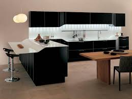 kitchen cozy modern black and white kitchen decoration using
