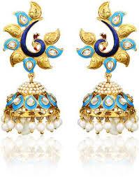Chandelier Earrings India Buy Zaveri Pearls Alloy Chandelier Earrings In India At