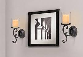 Joselyn Candle Wall Sconce Candle Wall Sconces Crate And Barrel Set Of 2 Knox Grey Sconces