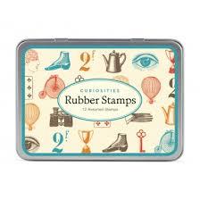 cavallini rubber sts tin of rubber sts mini curiosities