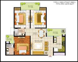 3 Bhk Apartment Floor Plan by Floor Plans Of Bharat City Indraprastha Yojana 9015523000