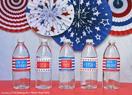 4th of july printable water bottle labels i nap time