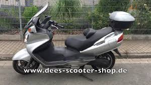 suzuki burgman an 650 ez 2002 www dees scooter shop de hamm youtube