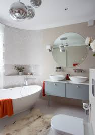 Modern Powder Room The Sleek Beauty Of Round Bathtubs
