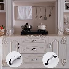 kitchen door furniture classic black white 20pcs european kitchen door furniture handles