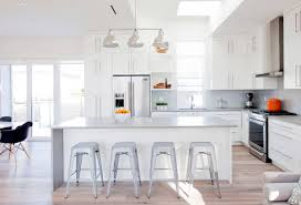 Modern White Bar Stool Kitchen Modern White Kitchen Cabinet With Grey Countertop Also