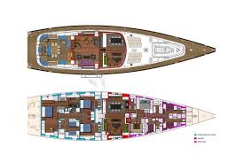 Yacht Floor Plan by State Of Grace Luxury Sailing Yacht Charter Mediterranean Nyc