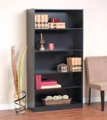 Bookcase Black Wood Orion Furniture Concepts 5 Shelf Black Bookcase At Menards