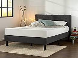 Bed With Frame And Mattress Zinus Upholstered Stitched Platform Bed With