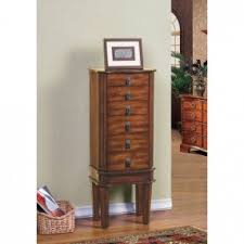 Wooden Jewelry Armoire A Jewelry Armoire Dresses The Bedroom With A Timeless Accent Piece
