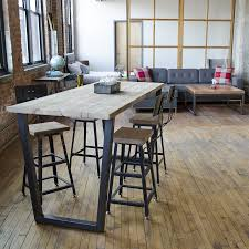 bar style dining table reclaimed wood bar height table plan eflyg beds