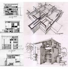 study on shodan house by le corbusier sketch architectural