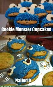 Cupcake Memes - cookie monster cupcakes nailed it know your meme