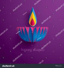 Lamp Design by Happy Diwali Paper Graphic Indian Diya Stock Vector 702594361