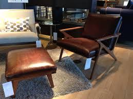 499 ottoman 1299 cavett leather chair crate u0026 barrel edmonds
