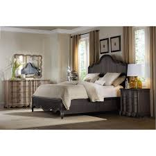 Dark Wood Bedroom Furniture Hooker Furniture 5280 90250 Corsica Queen Panel Bed In Dark Wood