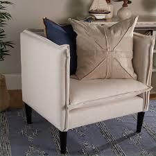 linen club chair boothbay modern linen club chair shades of light