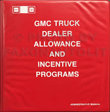 1987 gmc service policies and procedures manual original