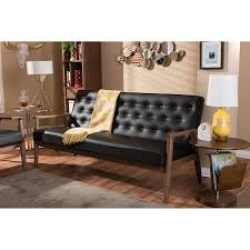 Leather And Wood Sofa Leather And Woodfa Furniture White Italian Cognac