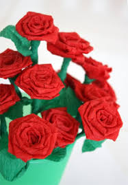 Paper Roses Filth Wizardry Mini Roses From Dollar Store Crepe Paper Streamers